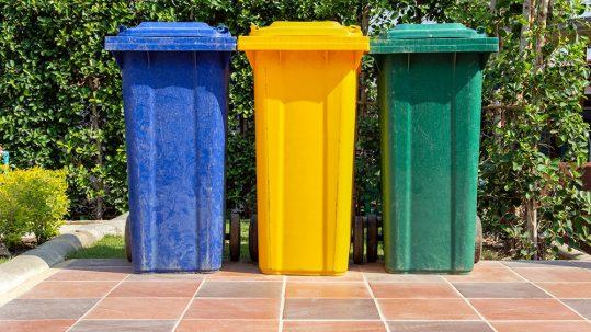 Code couleur des bacs de poubelle